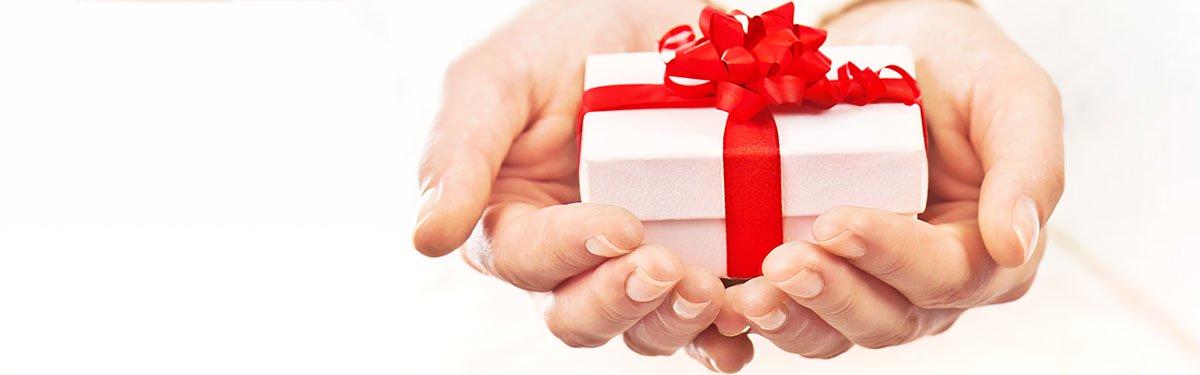 Grazie per la tua fiducia: questo regalo è per te.