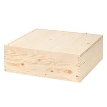 Cassetta di legno per tre bottiglie