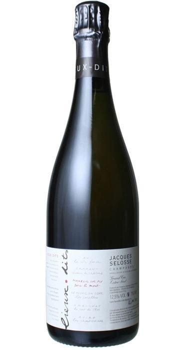 Jacques Selosse Champagne   SOUS LE MONT Blanc de Noirs de Mareuil sur Ay Extra Brut  Champagne Premier Cru
