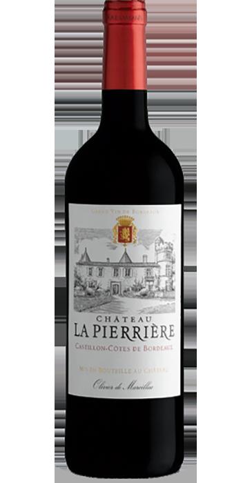 Château La Pierrière Castillon-Cötes de Bordeaux 2016 Côtes de Bordeaux AOC