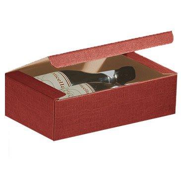 Scatola vino regalo da 2 bottiglie rossa