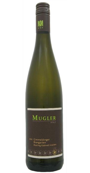 Mugler Gimmeldinger Biengarten Riesling Trocken Deutscher Qualitätswein 2012
