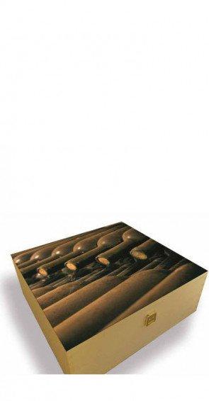 Cassetta di legno per tre bottiglie cantina