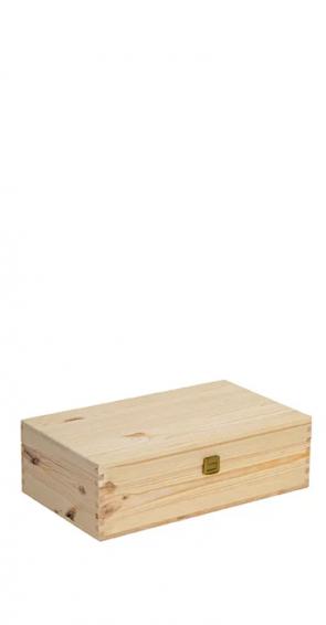 Cassetta di legno per due bottiglie